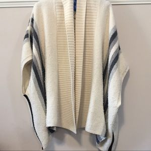 Club Monaco Polly Poncho Stripe Cardigan Cape XS